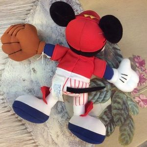 Disney Accents - M I C K E Y Baseball Mickey Mouse Plush Toy